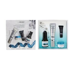 Brandt Dr. BrandtSkincare Wishlist Kit: Pore Refiner Primer 30ml+ Wrinkle Smoothing Cream 15g+ Microdermabrasion 7.5g+ Hyaluronic Cream 10g 4pcs