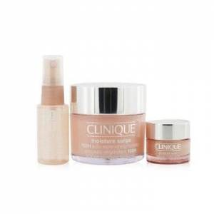 CliniqueMoisture Surge Set: Moisture Surge 100H 125ml+ All About Eyes 15ml+ Moisture Surge Face Spray Thirsty Skin Relief 30ml 3pcs