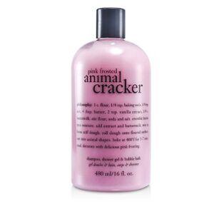 PhilosophyPink Frosted Animal Cracker Shampoo, Shower Gel & Bubble Bath 480ml/16oz