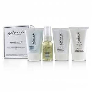 EpionceEssential Recovery Kit: Milky Lotion Cleanser 30ml+ Priming Oil 25ml+ Enriched Firming Mask 30g+ Renewal Calming Cream 30g 4pcs