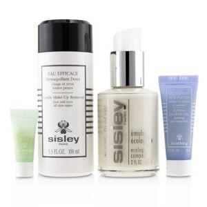 SisleyWeek-End Must-Haves Set: Ecological Compound 60ml + Gentle Make-Up Remover 100ml + Express Flower Gel 10ml + Eye Contour Mask 4pcs+1bag