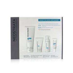 NeostrataSensitive Skin Antiaging Kit: Restore Cleanser, Restore Face Cream, Restore Face Serum, Restore Eye Cream 4pcs