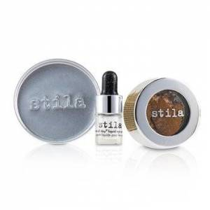 StilaMagnificent Metals Foil Finish Eye Shadow With Mini Stay All Day Liquid Eye Primer - Comex Copper 2pcs