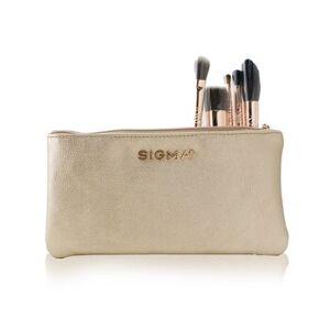 Sigma BeautyIconic Brush Set (5x Rose Gold brush + 1x Bag) 5pcs+1bag