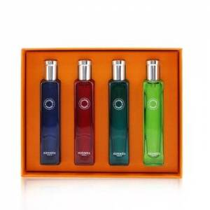 HermesColognes Collection Travel Set: Eau D'Orange Verte, Eau De Rhubarbe Ecarlate, Eau De Pamplemousse Rose, Eau De Citron Noir 4x15ml/0.5oz