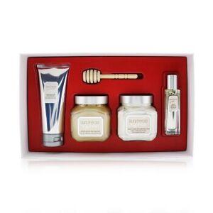 Laura MercierAlmond Coconut Milk Luxe Body Collection: Eau De Toilette Spray 15ml/0.5oz + Souffle Body Creme 200ml/6.7oz + Honey Bath 200ml/6.7oz + Cr