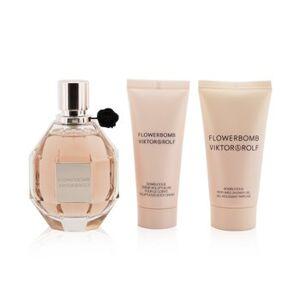 Viktor & RolfFlowerbomb Coffret: Eau De Parfum Spray 100ml/3.4oz + Body Cream 40ml/1.36oz + Shower Gel 50ml/1.7oz 3pcs