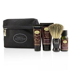 The Art Of ShavingStarter Kit - Sandalwood: Pre Shave Oil + Shaving Cream + After Shave Balm + Brush + Bag 4pcs + 1Bag