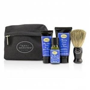 The Art Of ShavingStarter Kit - Lavender: Pre Shave Oil + Shaving Cream + After Shave Balm + Brush + Bag 4pcs + 1 Bag