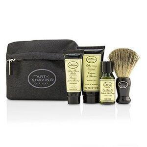 The Art Of ShavingStarter Kit - Unscented: Pre Shave Oil + Shaving Cream + After Shave Balm + Brush + Bag 4pcs + 1 Bag