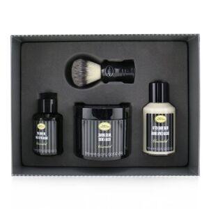 The Art Of Shaving4 Elements Shaving Full Size Kit -Unscented: Pre-Shave Oil 60ml + Shaving Cream 150ml + After-Shave Balm 100ml + Genuine Badger Brus