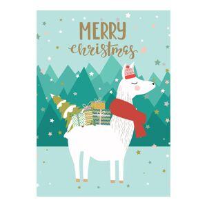 World Market Merry Christmas Llama Christmas Cards Set of 15 by World Market
