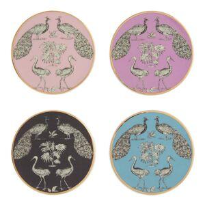 World Market Art Deco Birds Ceramic Coasters 4 Pack: Multi by World Market