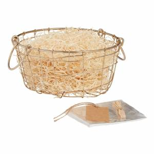 World Market Gold Wire Double Handle Gift Basket Kit by World Market