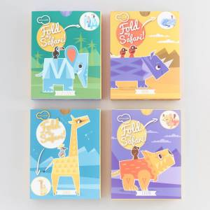 World Market Krooom Fold My Safari Animals Set of 4 by World Market