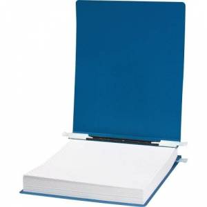 """ACCO® 23 pt. ACCOHIDE® Covers with Storage Hooks, For Unburst Sheets, 9 1/2"""" x 11"""" Sheet Size, Blue"""