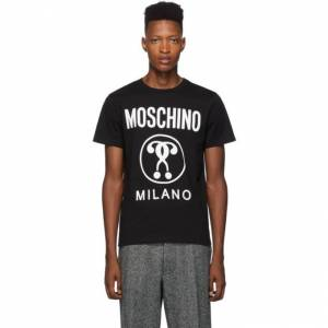 Moschino Black Double Question Mark Logo T-Shirt