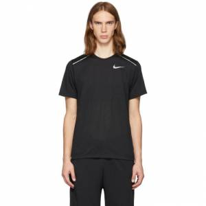 Nike Black Rise 365 Running T-Shirt