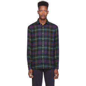 Ralph Lauren Purple Label Navy and Green Tartan Aston Shirt