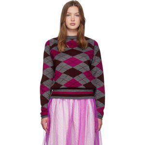 Molly Goddard Grey and Pink Joan Sweater