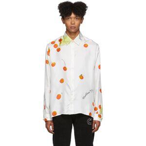 Casablanca SSENSE Exclusive White Silk Encore Les Oranges Long Sleeve Shirt