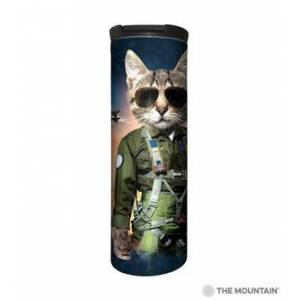 The Mountain Tom Cat Stainless Steel Travel Tumbler   The Mountain