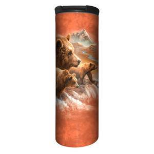 The Mountain Tami Alba Grizzlies of the North Stainless Steel Travel Tumbler   The Mountain