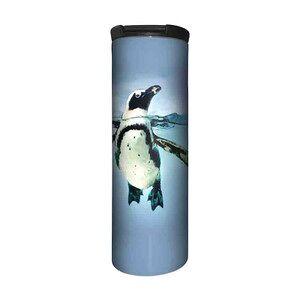 The Mountain Swimming Penguin Stainless Steel Travel Tumbler   The Mountain