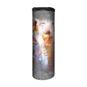 The Mountain Vision of the Wolf Stainless Steel Travel Tumbler   The Mountain