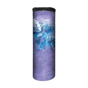 The Mountain Manatees Forever Stainless Steel Travel Tumbler   The Mountain