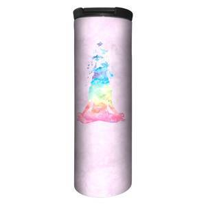 The Mountain Namaste Watercolor Pink Stainless Steel Travel Tumbler   The Mountain