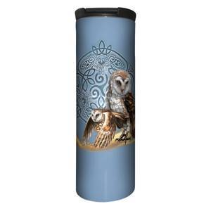 The Mountain Celtic Owl Magic Blue Stainless Steel Travel Tumbler   The Mountain