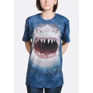 The Mountain Wicked Nasty Shark Unisex T-Shirt   The Mountain  - Size: 5XL
