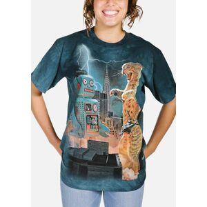 The Mountain Catzilla vs. Robot Unisex T-Shirt   The Mountain  - Size: S