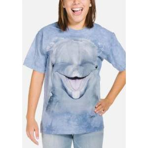 The Mountain Dolphin Face Unisex T-Shirt   The Mountain  - Size: M