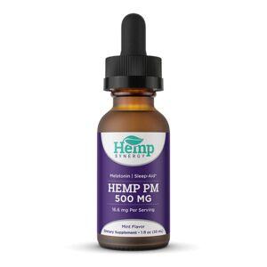 Hemp Synergy CBD Oil Tincture Drops Sleep Aid - Mint 500mg 30ml