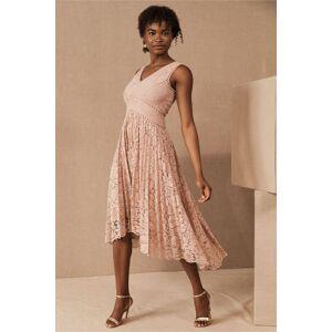 BHLDN Perri Lace V-Neck Dress  - Size: 2
