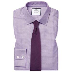 Charles Tyrwhitt Slim Fit Egyptian Cotton Chevron Purple Dress Shirt French Cuff Size 16.5/36 by Charles Tyrwhitt