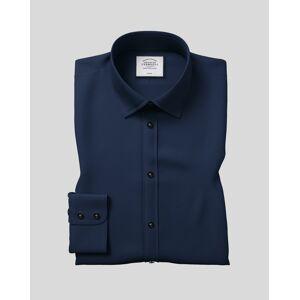 Charles Tyrwhitt Classic Fit Navy Non-Iron Twill Cotton Dress Shirt French Cuff Size 16/36 by Charles Tyrwhitt