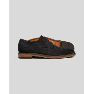 Charles Tyrwhitt Suede Woven Derby Shoe - Black Size 14