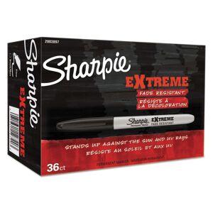 Sharpie Extreme Marker, Fine Bullet Tip, Black, 36/Pack