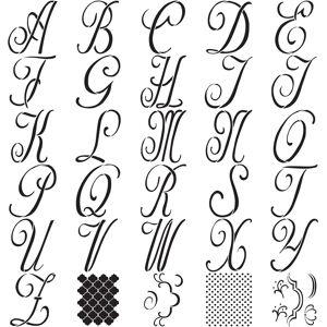 "Plaid:Craft Folkart Paper Stencil 6""-8""-Script 7"" 30/Pkg"