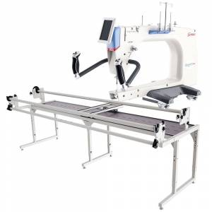 Grace Q'Nique 21 Pro Quilting Machine with Continuum 10' Quilting Frame - White (White)