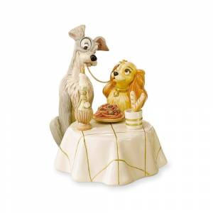 Lenox Disney Lady and the Tramp Porcelain Figurine with Gold Accents (DISNEY SHW LADY AND THE TRAMP FIGURINE)