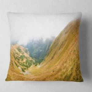 DESIGN ART Designart 'View from Volovec at Tatras' Landscape Printed Throw Pillow (Square - 26 in. x 26 in. - Large)