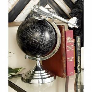 "Strick & Bolton Buri Aluminum Globe (ALUM GLOBE 16""H, 13""W)"
