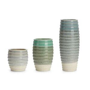 Benzara Incredibly Sauv? Ceramic Vase, Multicolor (Set of 3) (Multi)