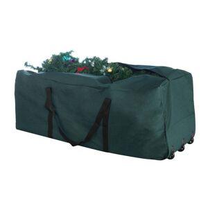 Trademark Global Elf Stor Premium Rolling Christmas Tree Storage Duffel Bag 9' Tree (Green)
