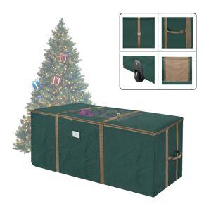 Trademark Global Elf Stor Rolling Christmas Tree Storage Duffel Bag w/Window 9' Tree (Green)