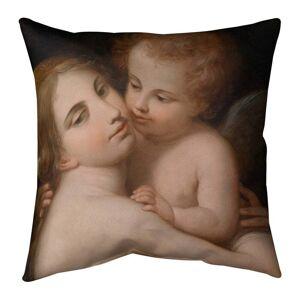 Porch & Den Giovanni Battista Cipriani 'Venus and Cupid' Throw Pillow (18 x 18 - Peach - Cotton)